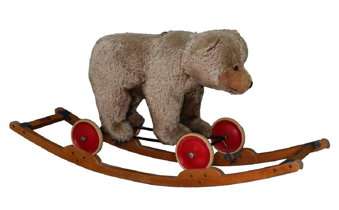 A 1950s Steiff Ride-On Bear with Rocker