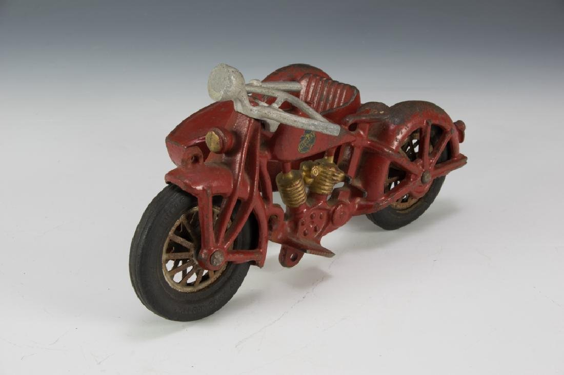 Hubley Cast Iron Motorcycle with Sidecar - 2