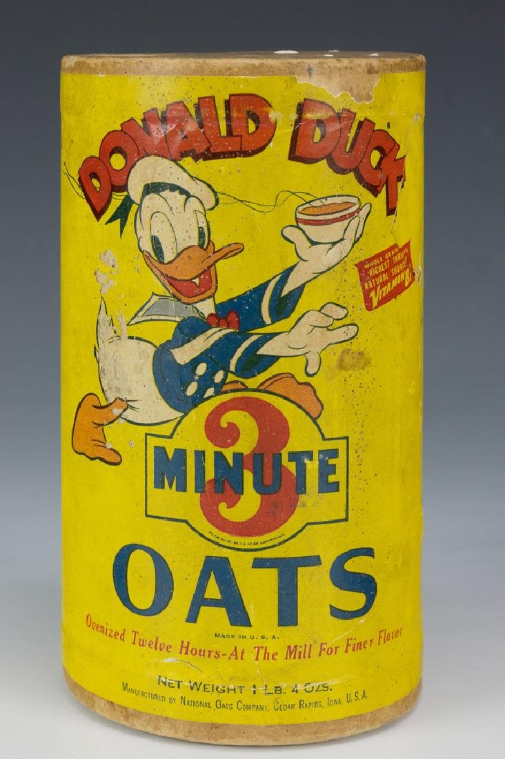Rare Unopened Donald Duck Oats