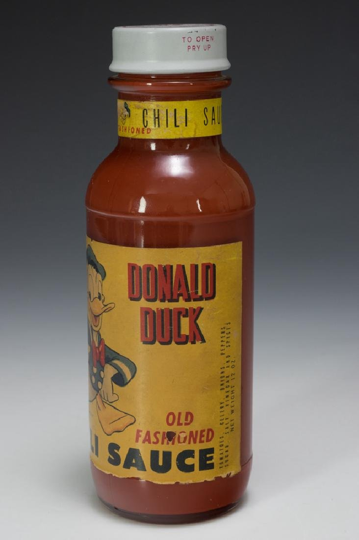 Unopened Bottle of Donald Duck Chili Sauce - 2