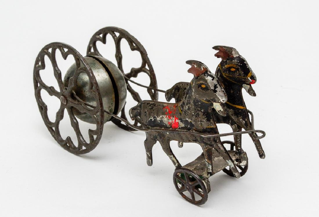 Early American Tin & Iron Bell Toy