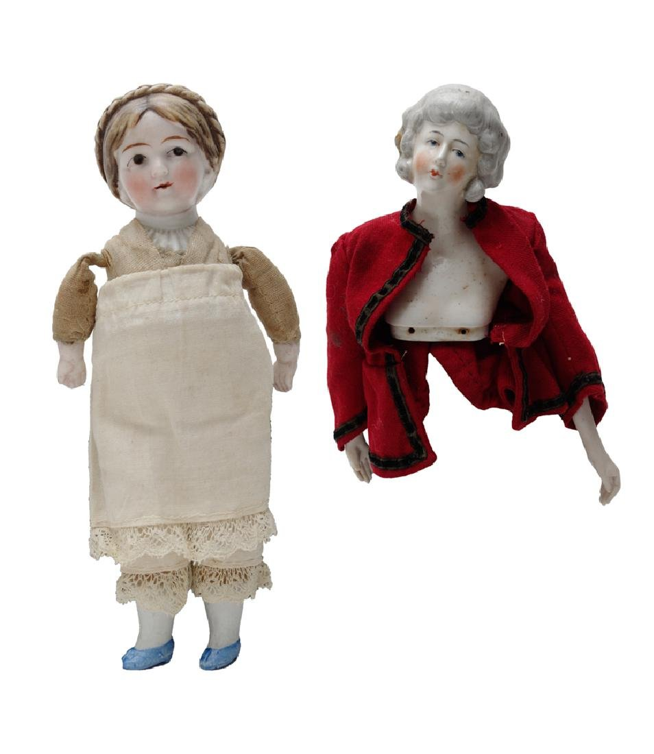 Two German Porcelain Dolls