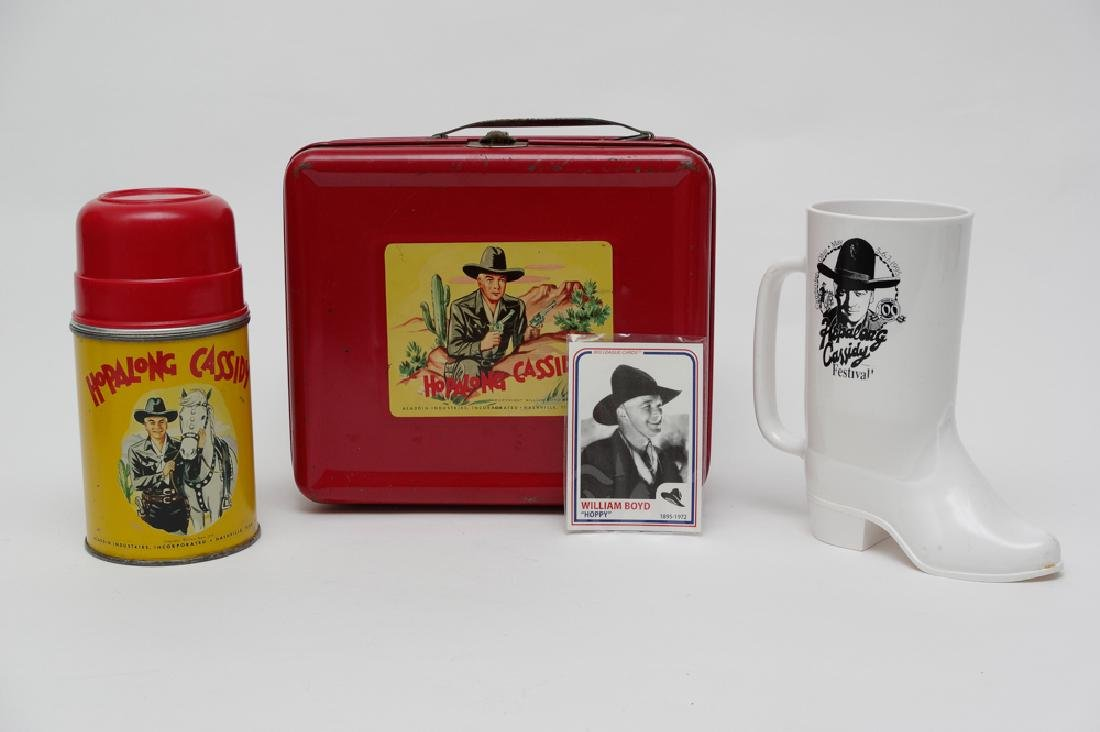 Hopalong Cassidy Lunchbox, Thermos, & Mug
