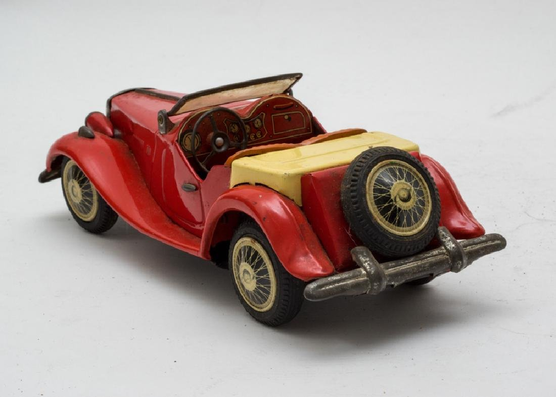 Bandai Tin MG Midget Roadster, Japanese - 3