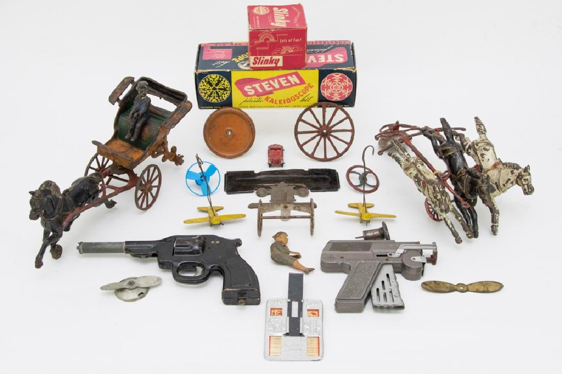 Lot of Toys and Parts, Includes Cast Iron, etc.