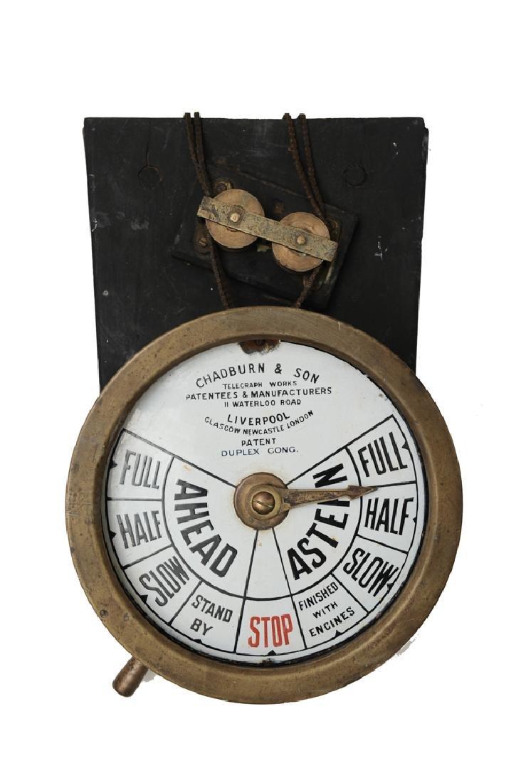 19th Century Ships Telegraph, Chadburn & Sons