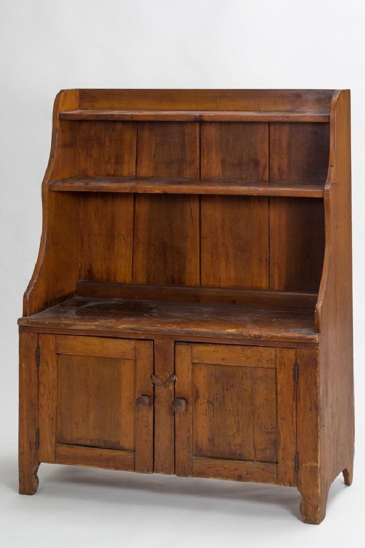 Primitive Pine Step-back Cupboard