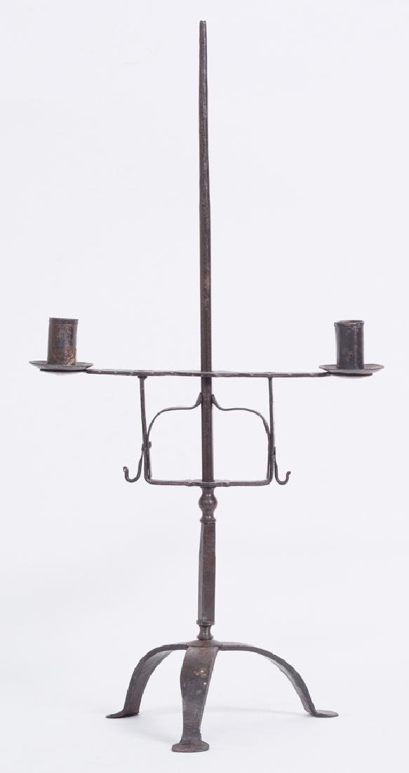 Wrought Iron Double Candle Stand