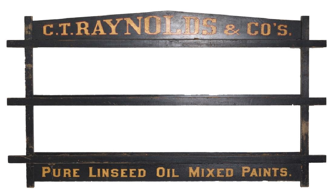 C.T. Raynolds and Co's. Paint Display Rack