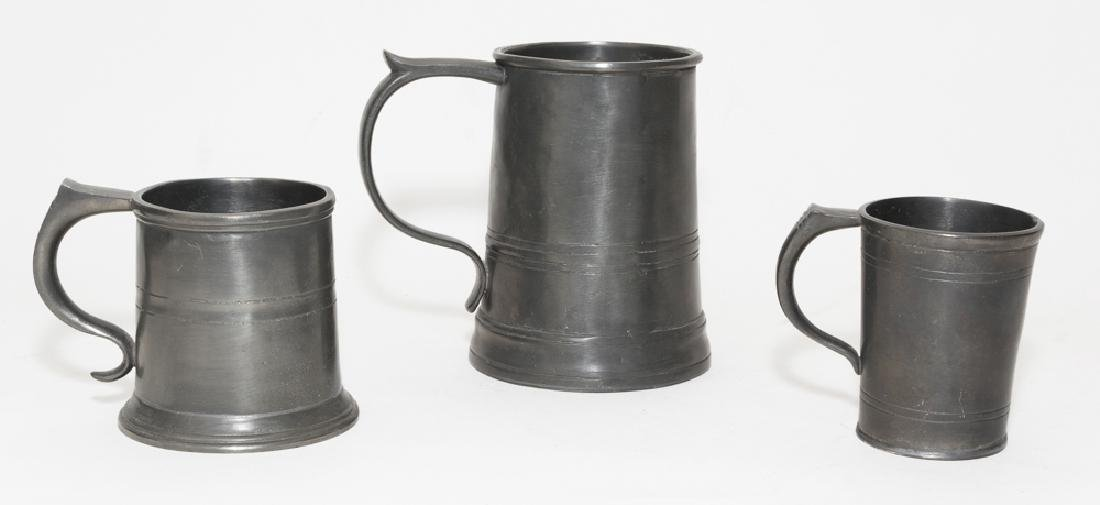 Set of 3 'Old World Pewter' Mugs