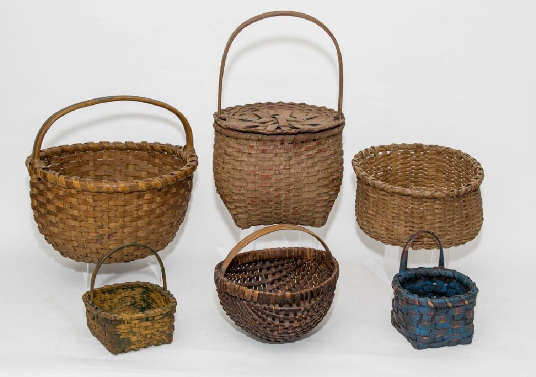Six Old Baskets