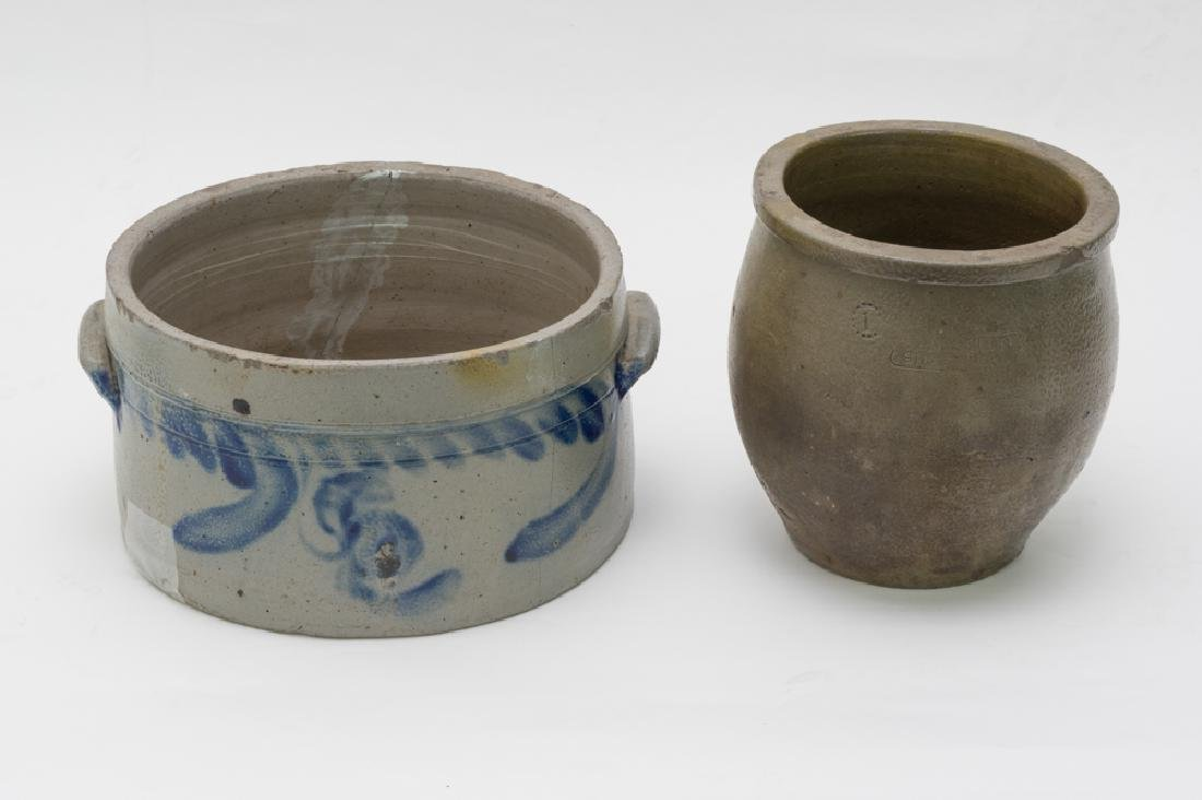Pair of Salt Glaze Crocks