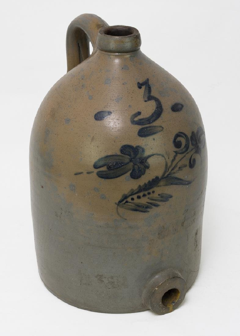 Three-Gallon Cobalt Decorated Water Pitcher