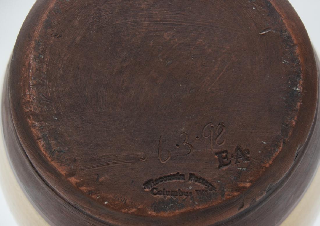 Wisconsin Pottery Yellow Ware Jug w/ Eagle, 1998 - 2