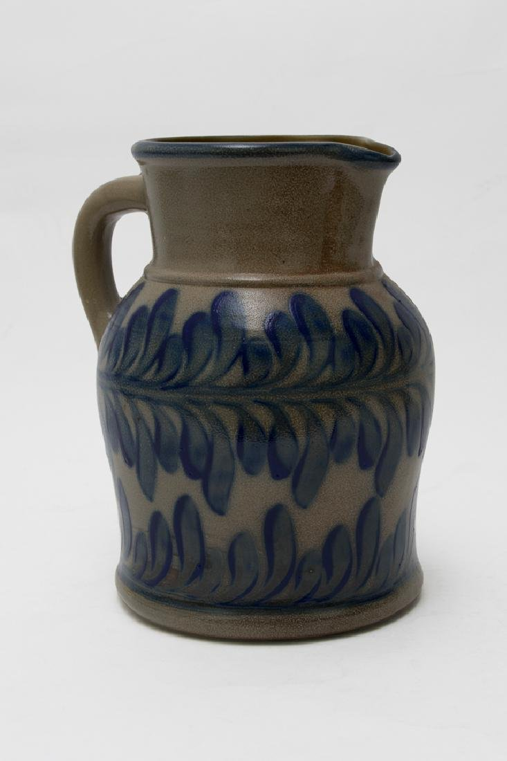 Cobalt-Decorated Salt Glaze Pitcher dated 1995