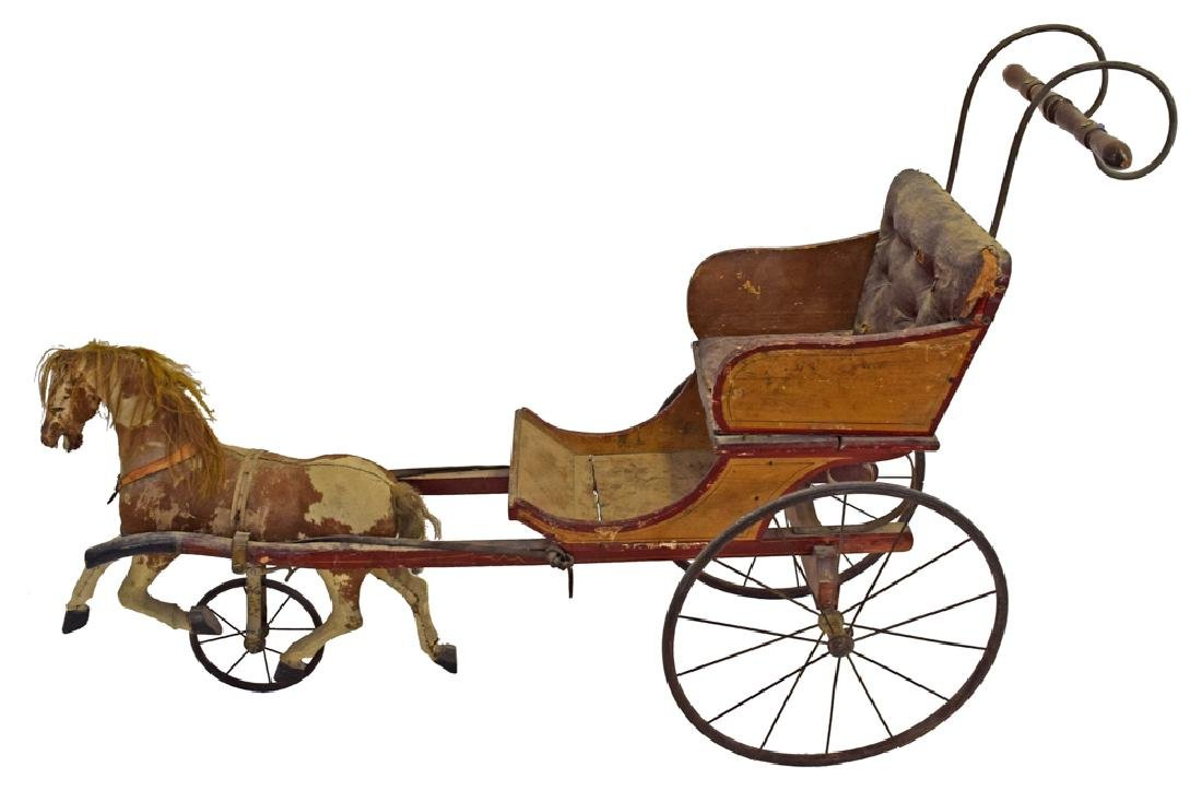 Early Child's Horse & Buggy Ride On Cart