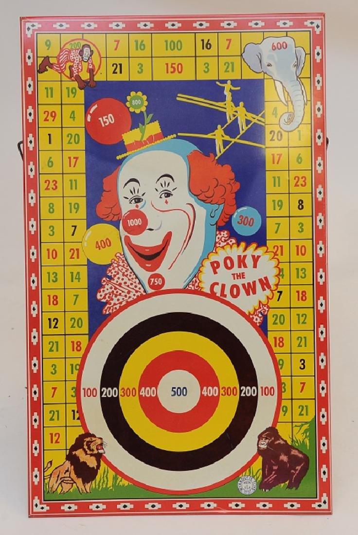 Tin Clown Target by Wyandotte plus Amaze-a-Matics