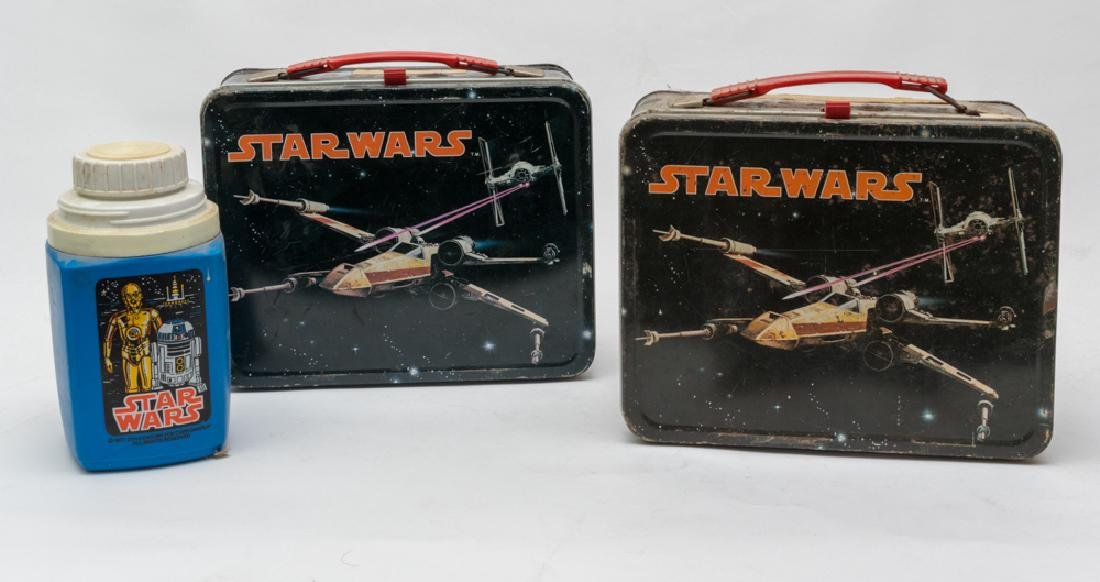 Set of 2 Star Wars Tin Lunchboxes by King-Seeley