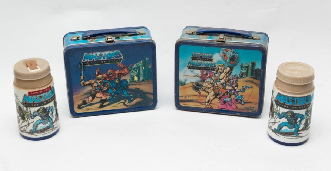 Two Tin He-Man Lunchboxes by Aladdin