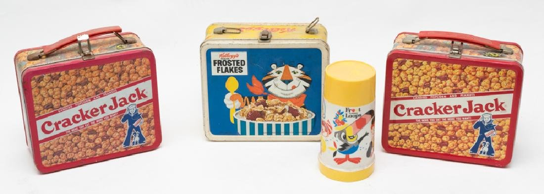 Group of 3 Advertising Tin Lunch Boxes
