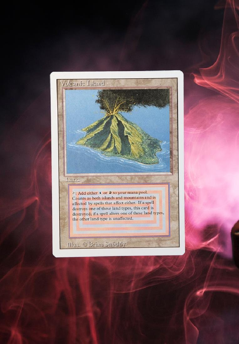 MTG Volcanic Island Revised edition MINT