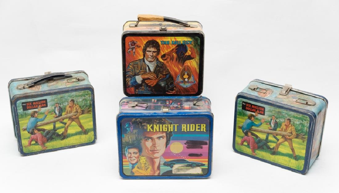 Four TV Show Lunch Boxes, including Knight Rider