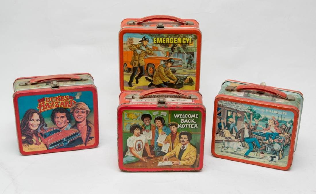 Four Tin TV Show Lunchboxes