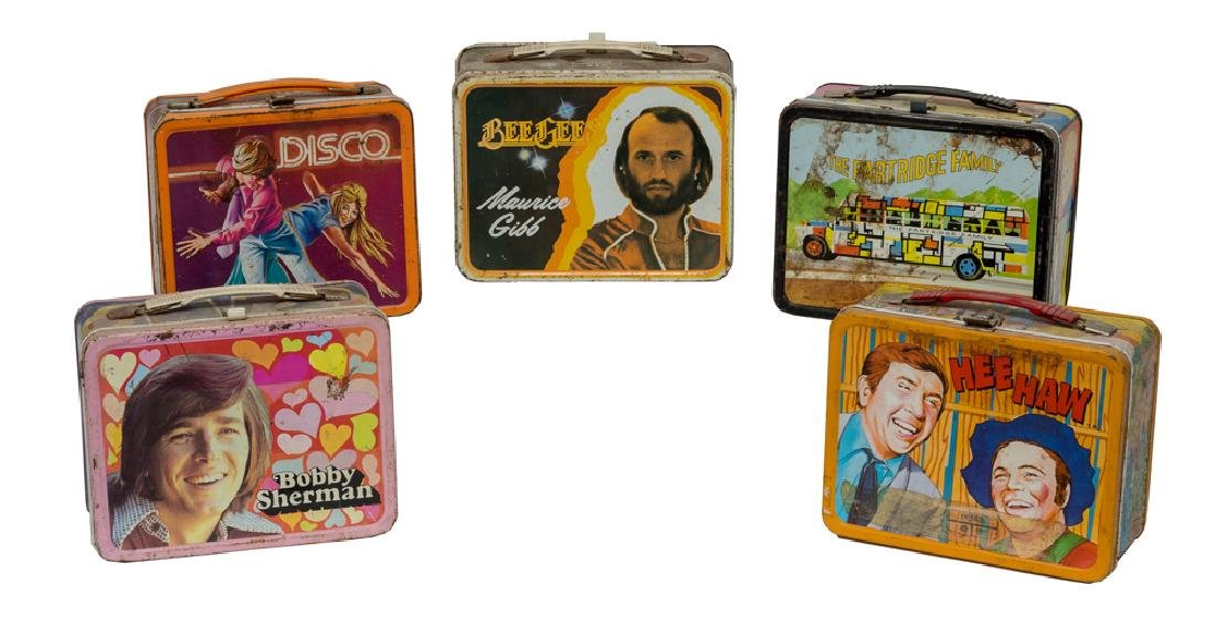 Five Tin Musical Act Lunchboxes