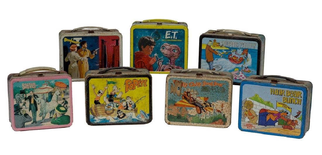Seven Tin TV & Movie Lunch Boxes