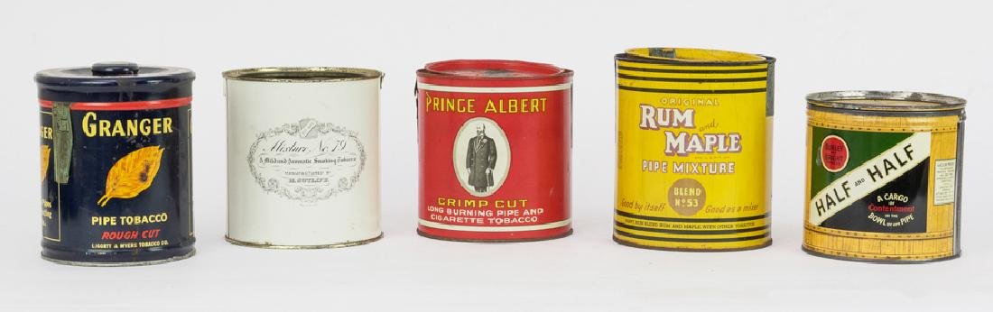 Five Vintage Tobacco Tins