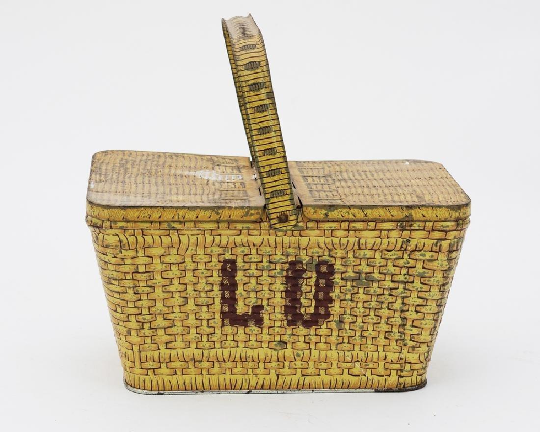 Metal Basket 'Lu' Biscuit Tin