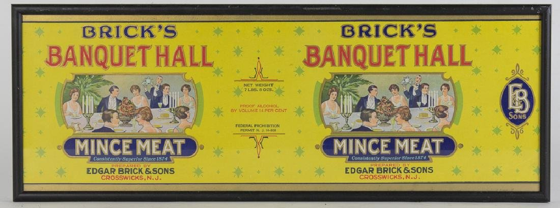 Bricks Banquet Hall Mince Meat Label