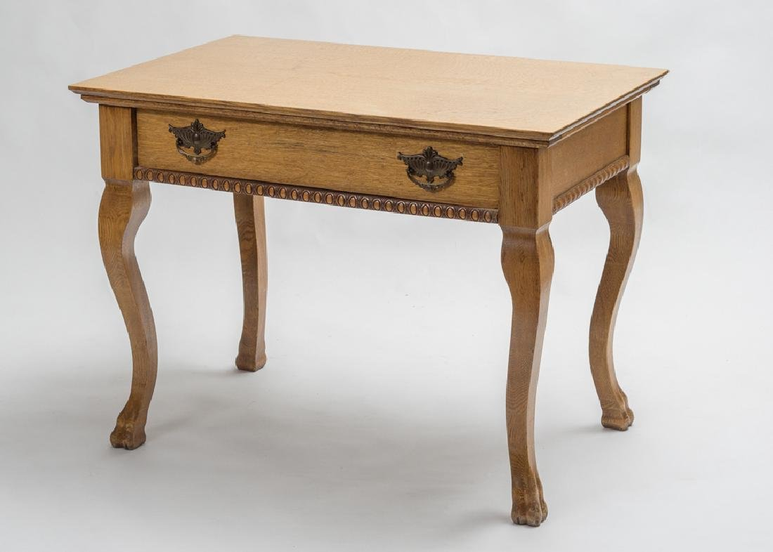 Antique Oak Ladies Writing Table