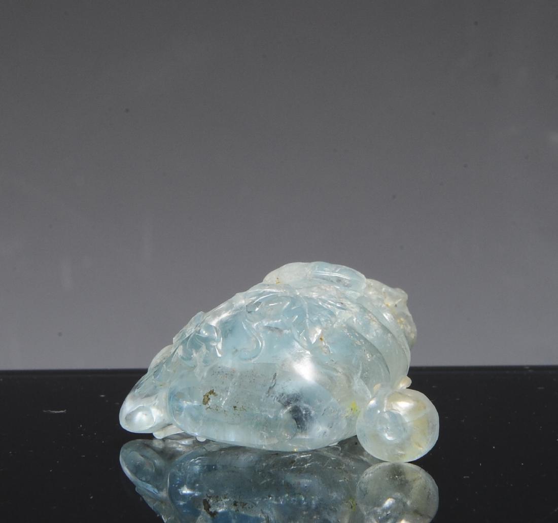 Chinese Blue Tourmaline Snuff Bottle, 19th C - 5