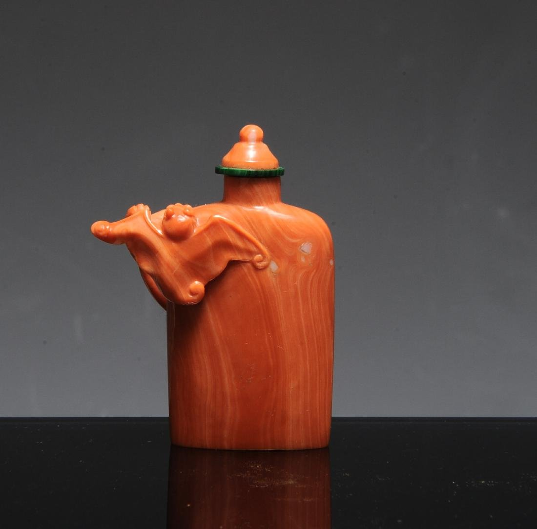 Chinese Coral Snuff Bottle, 19th Century - 3