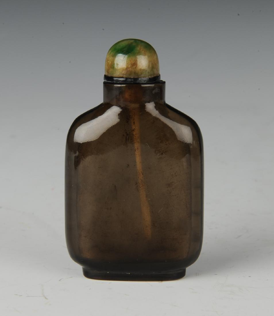 Chinese Crystal Snuff Bottle w/ Jadeite Lid, 19th C. - 3
