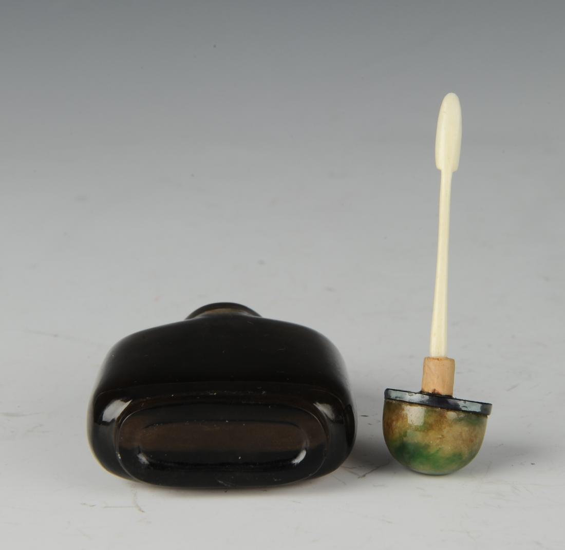 Chinese Crystal Snuff Bottle w/ Jadeite Lid, 19th C. - 5