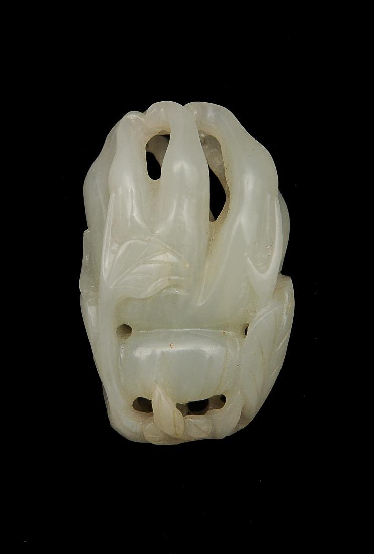 White Jade Carved Buddha's Hand, 18th - 19th C