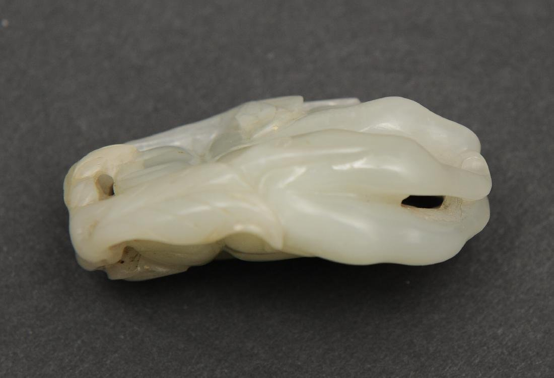 White Jade Carved Buddha's Hand, 18th - 19th C - 2