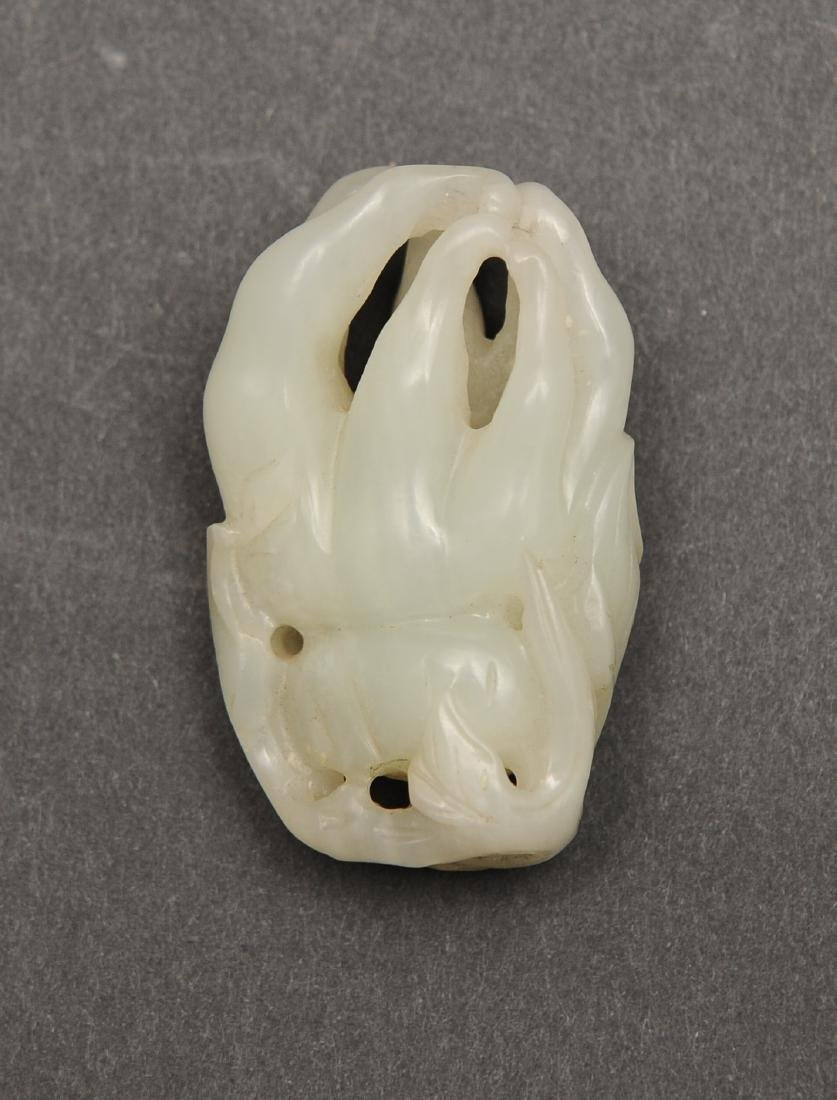 White Jade Carved Buddha's Hand, 18th - 19th C - 3