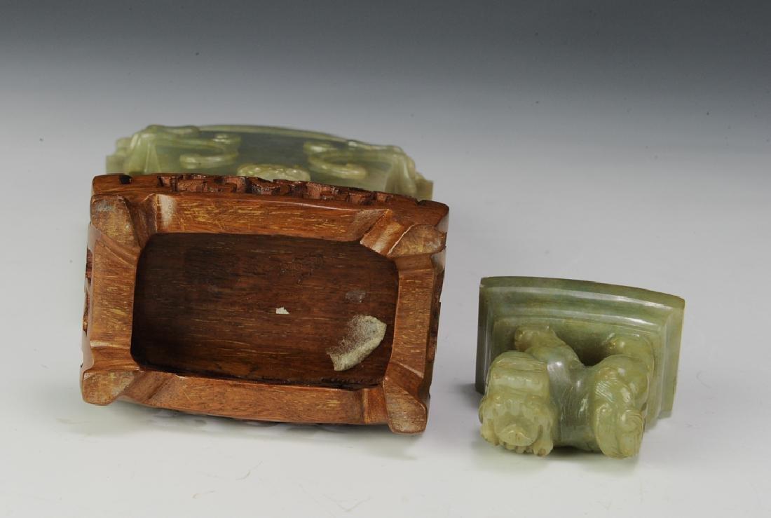 Chinese Square Jadeite Vase, Late 19th Century - 6