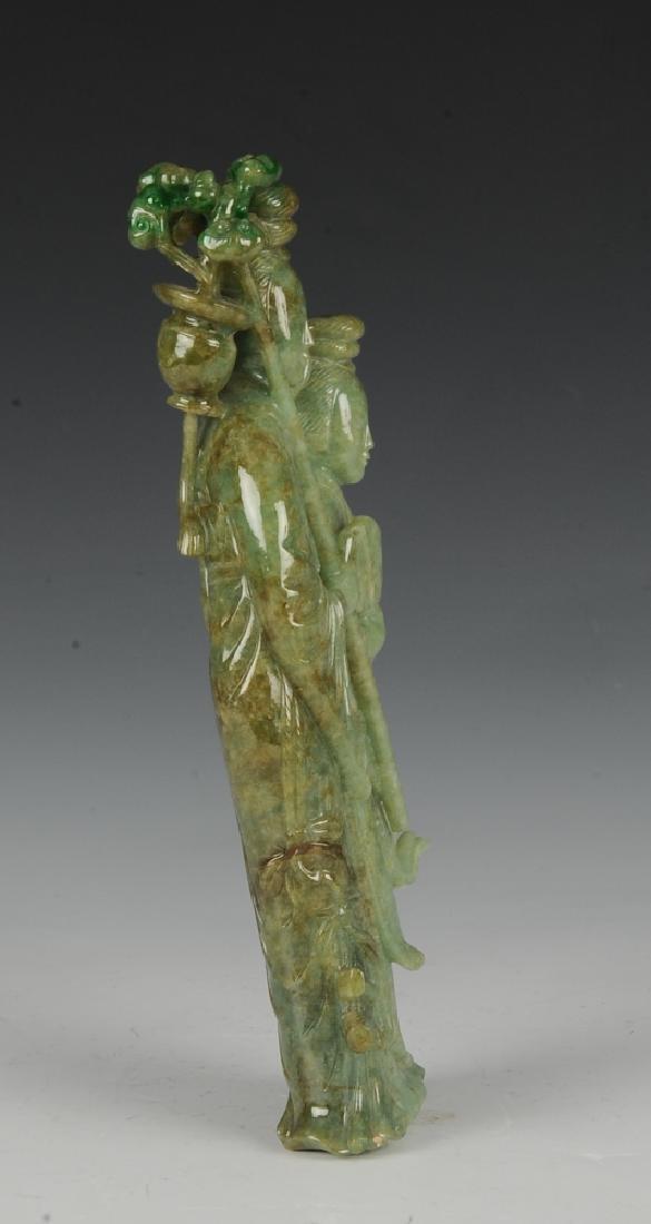 Chinese Carved Jadeite Statue of Court Ladies 19th C. - 4