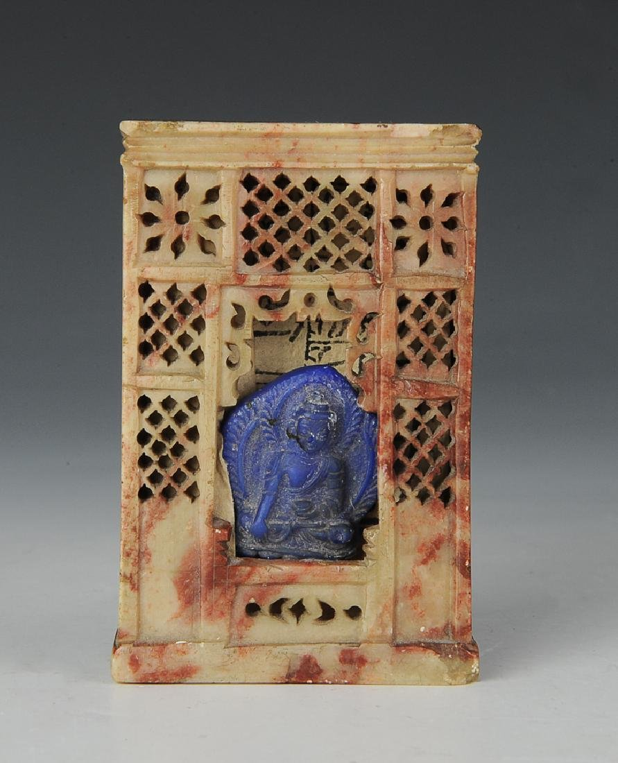 Soapstone Buddhist Shrine, 18th-19th C