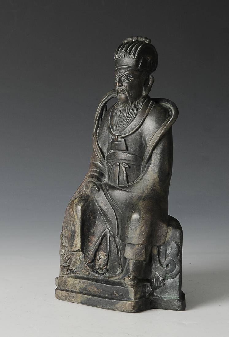 Bronze Statue of a Taoist Deity, Ming Dynasty