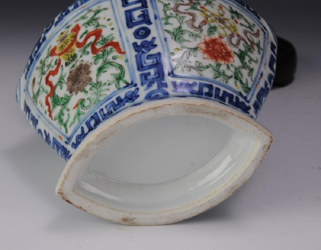 Chinese Diamond-Shaped Vase, 19th C. - 6