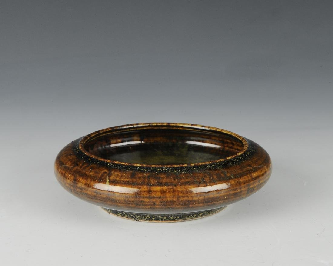 Chinese Brown Glazed Brush Washer, 18th - 19th C