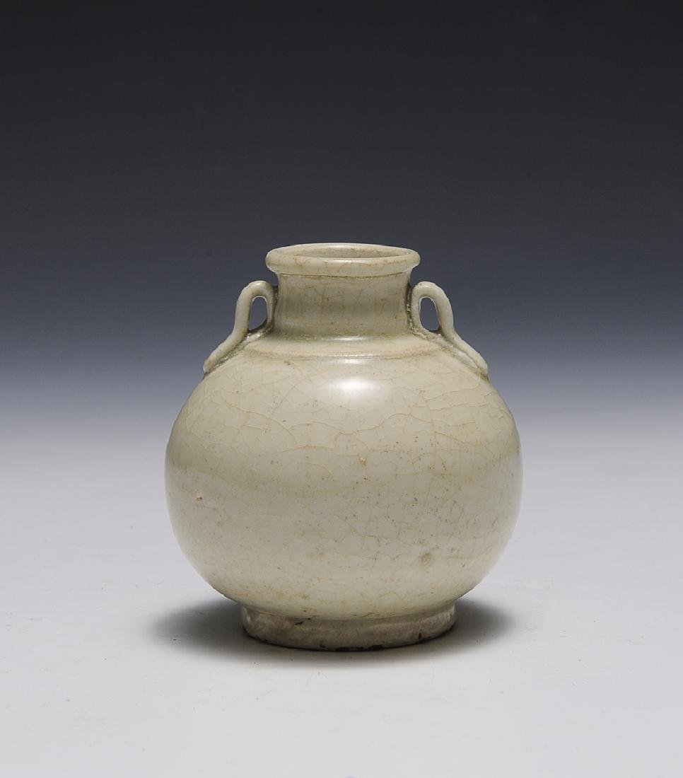 Chinese Ceramic Jar w/ Handles, Song Dynasty