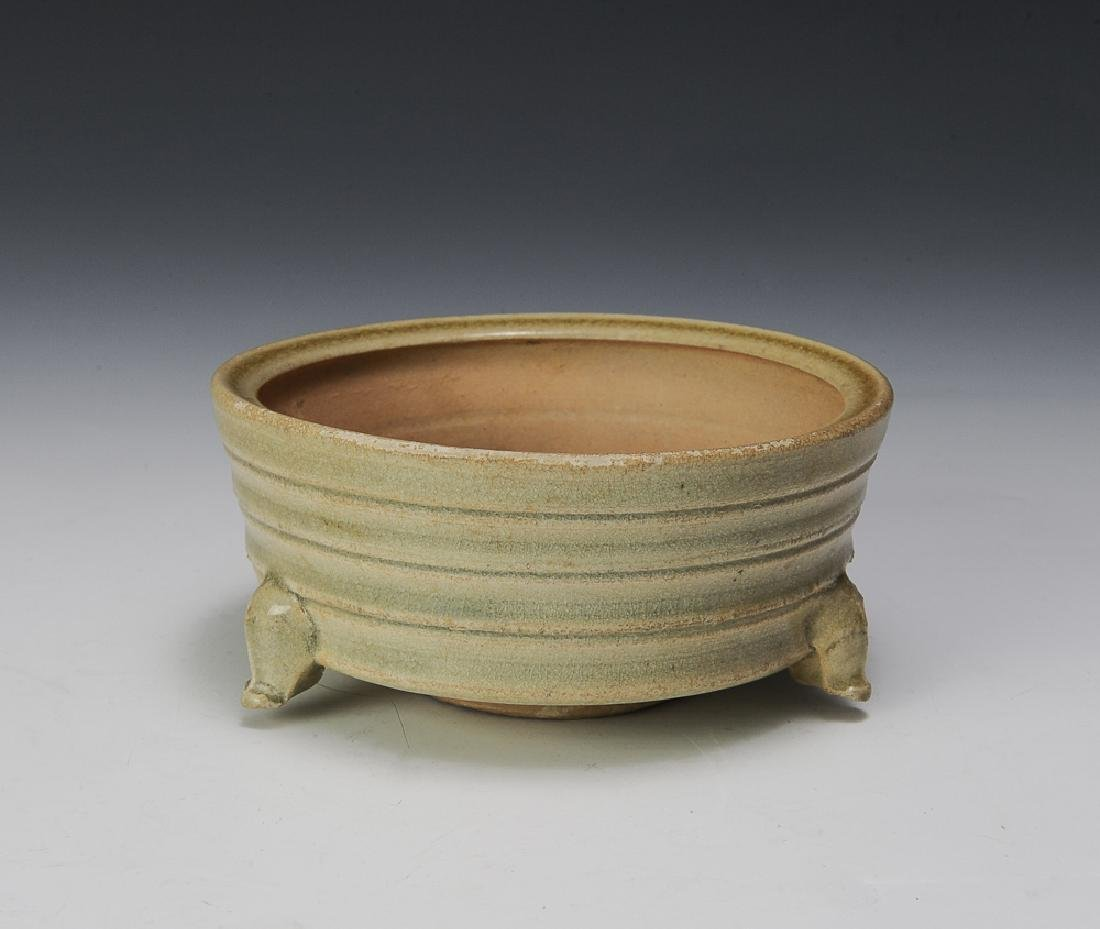 Chinese Celadon Tripod Censer, Song Dynasty