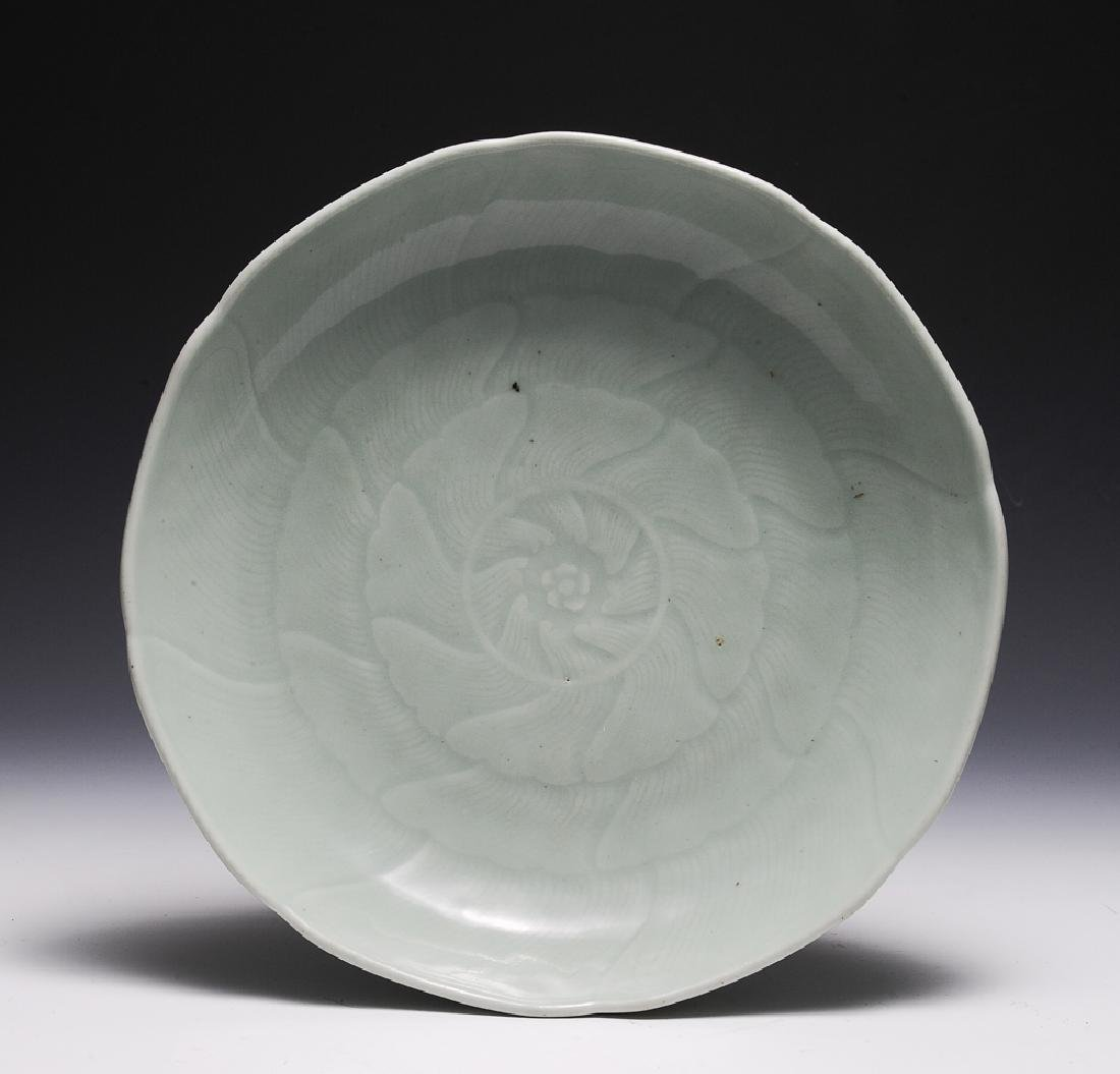 Chinese Celadon Glazed Charger, 18th C