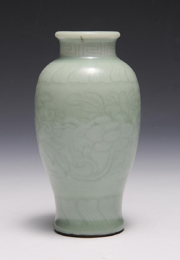 Small Chinese Celadon Glazed Vase, 18th-19th C